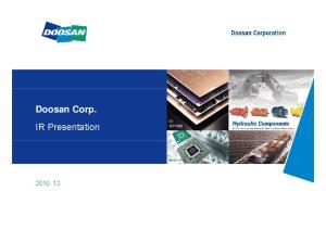 Doosan Corp. IR Presentation