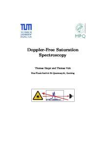 Doppler-Free Saturation Spectroscopy