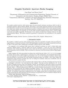 Doppler Synthetic Aperture Radar Imaging