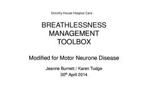 Dorothy House Hospice Care BREATHLESSNESS