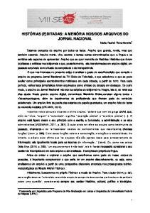 DOS ARQUIVOS DO JORNAL NACIONAL