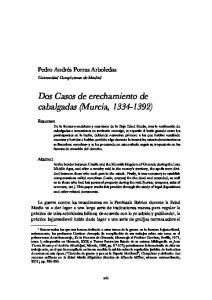 Dos Casos de erechamiento de cabalgadas (Murcia, )