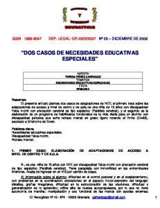 DOS CASOS DE NECESIDADES EDUCATIVAS ESPECIALES