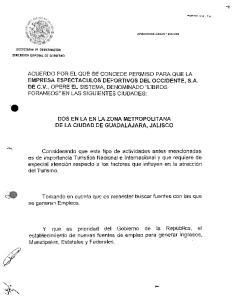 DOS EN LA EN LA ZONA METROPOLITANA DE LA CIUDAD DE GUADALAJARA, JALlSCO