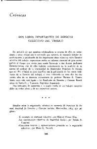 DOS LIBROS IMPORTANTES DE DERECHO COLECTIVO DEL TRABAJO