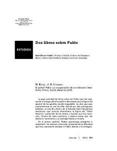 Dos libros sobre Pablo