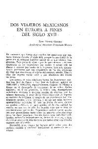 DOS VIAJEROS MEXICANOS EN EUROPA A FINES DEL SIGLO XVII