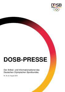 DOSB-PRESSE. Der Artikel- und Informationsdienst des Deutschen Olympischen Sportbundes