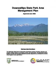 Dosewallips State Park Area Management Plan