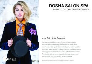 DOSHA SALON SPA COSMETOLOGY CAREER OPPORTUNITIES
