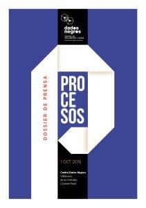 DOSSIER DE PRENSA 1 OCT Centro Dados Negros Villanueva de los Infantes (Ciudad Real)