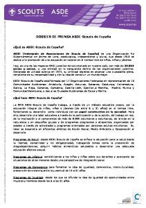 DOSSIER DE PRENSA ASDE-Scouts de España