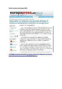 Dossier de prensa demostradores 2012