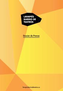 Dossier de Prensa lavapiesbarriodeteatros.es