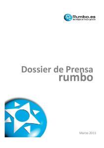 Dossier de Prensa. rumbo