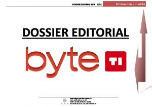 [DOSSIER EDITORIAL BYTE 2017] DOSSIER EDITORIAL