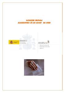 DOSSIER PRENSA ELECCIONES 25 DE MAYO DE 2003
