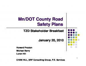 DOT County Road Safety Plans