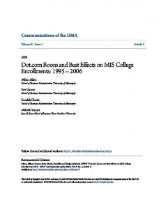 Dot.com Boom and Bust Effects on MIS College Enrollments: