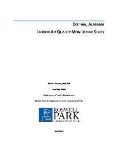 DOTHAN, ALABAMA INDOOR AIR QUALITY MONITORING STUDY