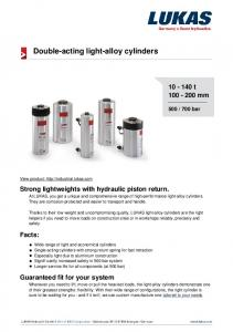 Double-acting light-alloy cylinders