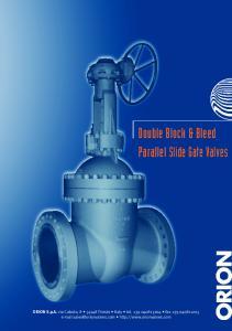 Double Block & Bleed Parallel Slide Gate Valves