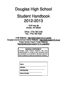 Douglas High School Student Handbook