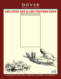 Dover Publications. Art, Fine ARt & Art InstruCtion. BAcklist Catalog 2014