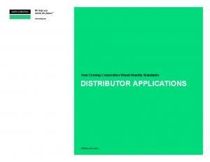 Dow Corning Corporation Visual Identity Standards DISTRIBUTOR APPLICATIONS
