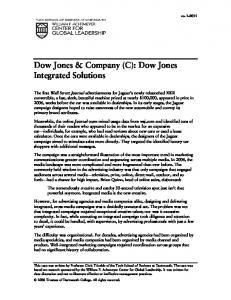 Dow Jones & Company (C): Dow Jones Integrated Solutions