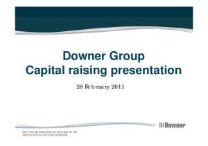 Downer Group Capital raising presentation