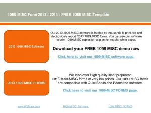 Download your FREE 1099 MISC demo now