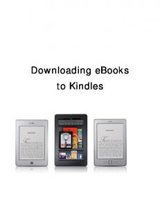 Downloading ebooks to Kindles