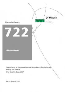 Downsizing in German Chemical Manufacturing Industry during the 1990s