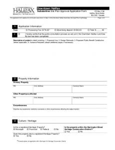 Downtown Halifax Substantive Site Plan Approval Application Form