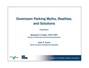 Downtown Parking Myths, Realities, and Solutions