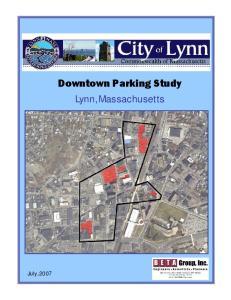 Downtown Parking Study Lynn, Massachusetts