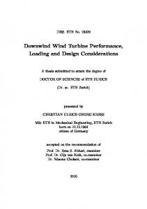 Downwind Wind Turbine Performance, Loading and Design Considerations