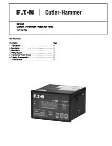 DP-300 Current Differential Protection Relay