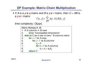 DP Example: Matrix-Chain Multiplication