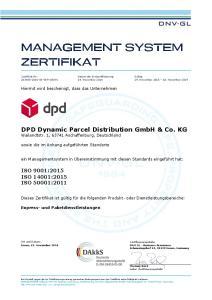 DPD Dynamic Parcel Distribution GmbH & Co. KG Wailandtstr. 1, Aschaffenburg, Deutschland