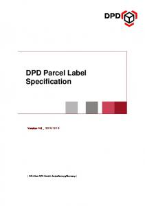DPD Parcel Label Specification