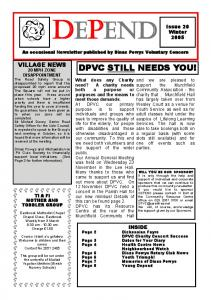 DPVC STILL NEEDS YOU!