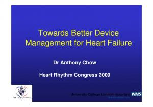 Dr Anthony Chow Heart Rhythm Congress 2009