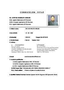 Dr. ANWAR HUSSAIN ANSARI