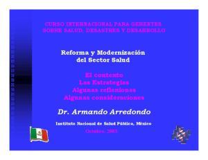 Dr. Armando Arredondo