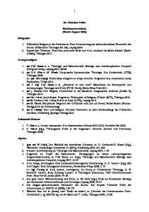 Dr. Christian Polke. Schriftenverzeichnis (Stand: August 2016)