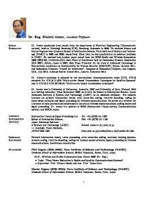 Dr. Eng. Khoirul Anwar, Assistant Professor