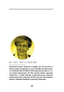 dr hab. Maria Dudziak