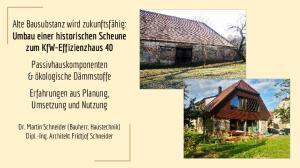 Dr. Martin Schneider (Bauherr, Haustechnik) Dipl.-Ing. Architekt Fridtjof Schneider